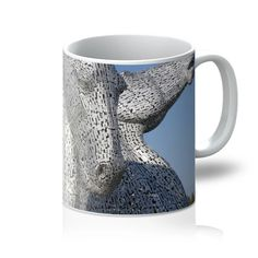 the Kelpies 1121, the Helix , Falkirk , Scotland Mug – Photogold Scottish gifts Photo Mugs, Photo Gifts, Clydesdale Horses, Scottish Gifts, Unique Coffee Mugs, All White, Custom Mugs, Original Image, Scotland