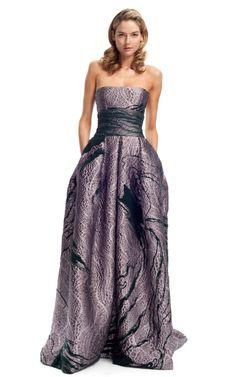 Carolina Herrera Swirl Jacquard Gown Fall/Winter 2012 $6990