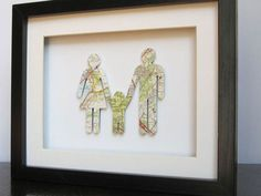 Our Favorite DIY Wall Art -- Family Mapping