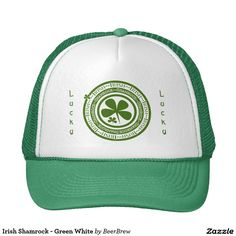 Irish Shamrock - Green White Trucker Hat