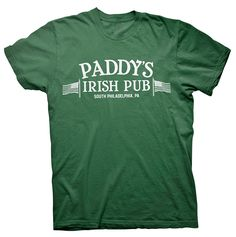 Paddy's Pub -  Mac St. Patrick's Day Drinking T-shirt Official license of the SHIRTINVADERS brand and a one of a kind exclusive design created Soft style 100% Preshrunk cotton t-shirts with a modern fit (4X and 5X shirts are classic fit basic tees). Custom printed using  ad