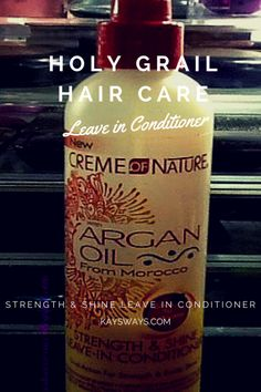 Creme of Nature Argan Oil from Morocco Strength & Shine Leave in Conditioner | Holy Grail Hair Care