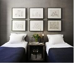 wood Frame Wall Guest Bedrooms is part of Eclectic bedroom - Welcome to Office Furniture, in this moment I'm going to teach you about wood Frame Wall Guest Bedrooms Home Bedroom, Bedroom Decor, Gray Bedroom, Bedroom Colors, Master Bedroom, Serene Bedroom, Ikea Bedroom, Bedroom Office, Trendy Bedroom