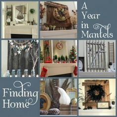Summer Mantel - Finding Home Farms Summer Mantel, Seasonal Decor, Holiday Decor, Holiday Ideas, Up House, Look Vintage, Living At Home, Fireplace Mantles, Fireplaces