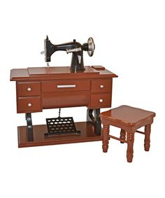 Look what I found on #zulily! 1930s Sewing Machine & Stool Set for 18'' Doll #zulilyfinds
