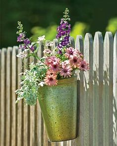 Flowers on fence @Heather Creswell Ferreira