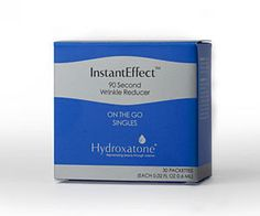 InstantEffect On-The-Go Individual Packettes Removes Wrinkles In 90 Seconds : InstantEffect On-The-Go Individual Packettes have proved to be one of the best selling beauty items recently. The 90-second wrinkle reducer is a light-weight serum that diminishes the appearance of wrinkles, fine lines, crow's feet, and under-eye bags in a jiffy.