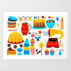 BIRTHDAY Art Print by Riku Ounaslehto - $15.60