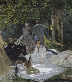 Claude Monet (1840-1926) Le déjeuner sur l'herbe 1865-1866