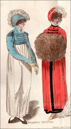 1804 - Walking Dresses - Ladies Monthly Museum