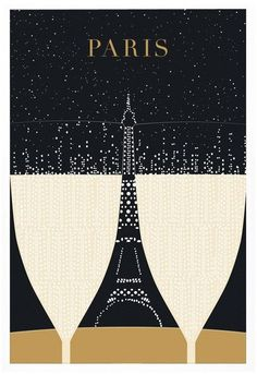 """SALE - Illustration, Paris Print, """"Eiffel Tower"""" Drawing Art Deco Poster, Black and Gold Wall Art, College Student Gift for Her Illustration Parisienne, Travel Illustration, Eiffel Tower Drawing, Paris 3, Poster Prints, Art Prints, Paris Eiffel Tower, Vintage Travel Posters, Paris Travel"""