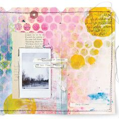 """""""When I am able to create, I feel so much better about everything. My tag journals are a creative outlet I can finish in a short amount of time. They become mini-scrapbooks, places to write my feelings, or just a place to slap on some paint."""" — Jenni Zmuda 