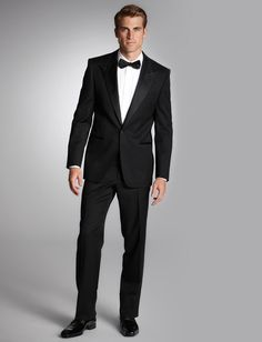 Hugo Boss 'Cary Grant' Modern-Fit Tux; #grooms, #amandajeanevents