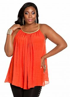 Ashley Stewart: Rope Accent A-line Blouse