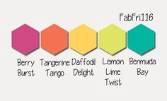 Stampin' Up! Color Inspiration: Berry Burst, Tangerine Tango, Daffodil Delight, Lemon Lime Twist, Bermuda Bay