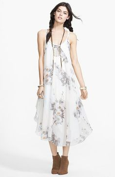 Free People 'Waterfalls' Print Woven Slipdress available at #Nordstrom