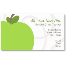 Sample Substitute Teacher Business Card Teacher Business Cards - Teacher business cards templates free
