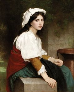 Italian Girl at the Fountain by William Bouguereau, 1870
