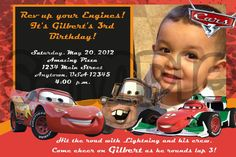 Cars Birthday Invitation by PoshPartyPrints on Etsy, $1.00