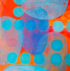 Acrylics on canvas with some mono printing by Henriette Pentenga