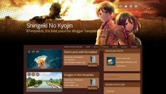 Shingeki No Kyojin Free Blogger Template - http://btemplates.com/10766