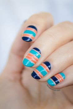 Negative Space Nautical Nails - tutorial: http://sonailicious.com/negative-space-nautical-nails-tutorial/