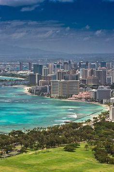 Waikiki, Diamond Head, Honolulu, Hawaii, USA