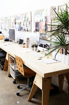 cool  creative office with inspiration boards