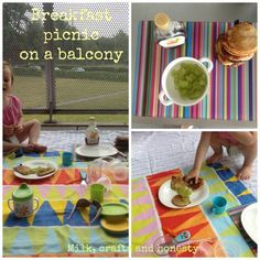 Picnic on the balcony, great way to start a day! Add pancakes and you get a perfect morning.