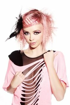 New clothes pink hair Ideas Creative Hairstyles, Funky Hairstyles, Vibrant Hair Colors, 80s Hair, 80s Costume, Candy Hair, Ash Blonde Hair, Hair Photo, Hair