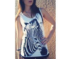 Zebra Printed T-Shirt
