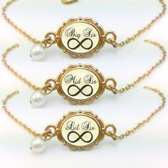 Sisters Gift Big Sis Mid Sis Lil Sis Bracelet by aMatterOfChoice, $49.00