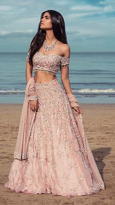 Latest Collection of Lehenga Choli Designs in the gallery. Lehenga Designs from India's Top Online Shopping Sites. Indian Lehenga, Indian Gowns, Indian Attire, Indian Wear, Designer Bridal Lehenga, Bridal Lehenga Choli, Lehenga Wedding, Indian Bridal Outfits, Indian Designer Outfits