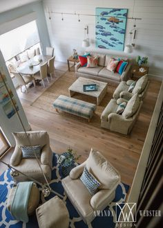 beach house with open layout living area | Amanda Webster Design