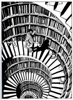 Choosing the right book.    Marc-Antoine Mathieu