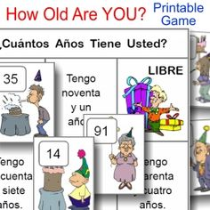 ¿Cuántos Años Tiene Usted? NEW printable game from PrintableSpanish.com