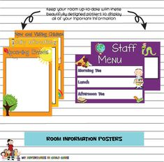 Child Care Room Information Posters