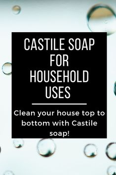 Replace chemical-based household products with non-toxic castile soap. Check out how one bottle of castile soap can eliminate many toxic products from being used in your home Natural cleaning products Natural Cleaning Solutions, Natural Cleaning Recipes, Natural Cleaning Products, Household Products, Household Cleaners, Diy Cleaners, Cleaning Tips, Castile Soap Uses, Castile Soap Recipes