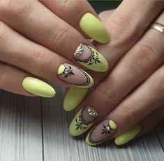 Mandalas Classy Nails, Fancy Nails, Cute Nails, Diy Acrylic Nails, Shellac Nails, Nail Art Arabesque, Peacock Nail Art, New Nail Art Design, Manicure E Pedicure