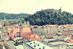 Blick auf Ljubljana - vom ältesten Wolkenkratzer der Stadt aus