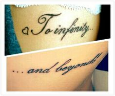 To infinity and beyond <3  best friend tattoo.