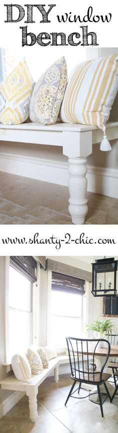 DIY Window Seat Benc
