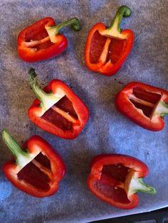 Fylte taco-paprika – Perfekt lavkarbo helgekos – Sukkerfri Hverdag Nom Nom, Taco, Stuffed Peppers, Vegetables, Food, Red Peppers, Veggies, Vegetable Recipes, Meals