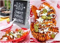 {Party Food} Grilled BBQ Sweet Potato Nachos! by ursula