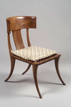 Klismos Side Chair with Cushion