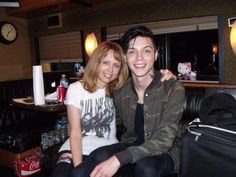 """ Amy and Andy. Mother and son. My raison d'être! "" - @ChrisABiersack"