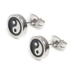 Pair Stainless Steel Silver Black Ying Yang Post Stud Earrings 8mm Steelmeup http://www.amazon.com/dp/B00FFEOX0O/ref=cm_sw_r_pi_dp_k5YWvb02QBP8Q