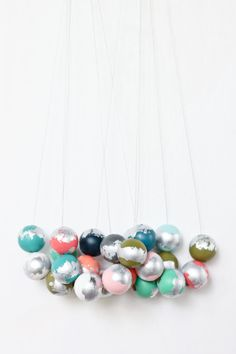 Hand-Painted Wooden Bead Necklace