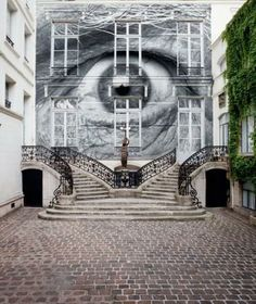 JR, amazing French Street Art Artist photography