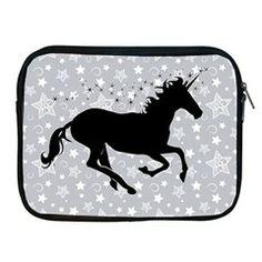 Unicorn on Starry Background Apple iPad Zippered Sleeve from Stuff Or Something